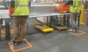 Maintain Social Distancing on Sanitized Floor in Plant/ Office and Hospital